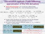 discretization methods finite difference approximation of the first derivative