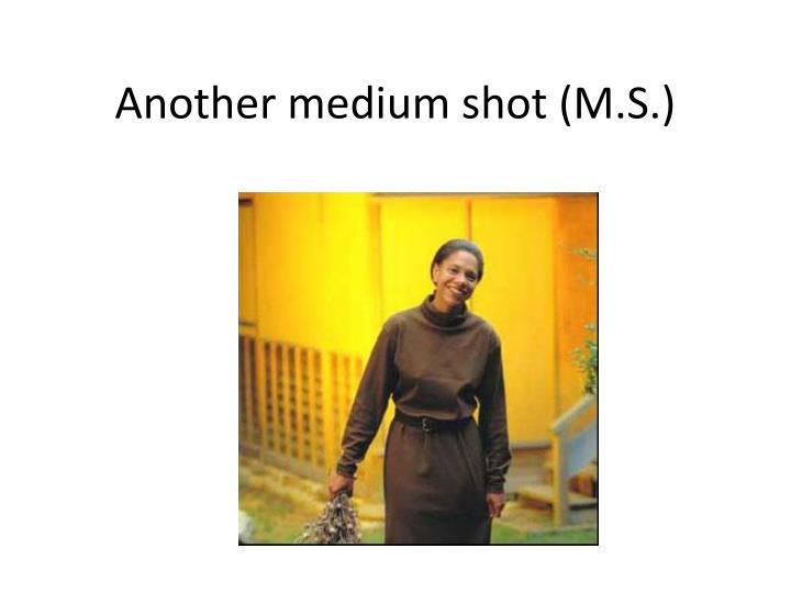 Another medium shot (M.S.)