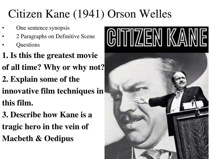 Citizen Kane (1941) Orson Welles