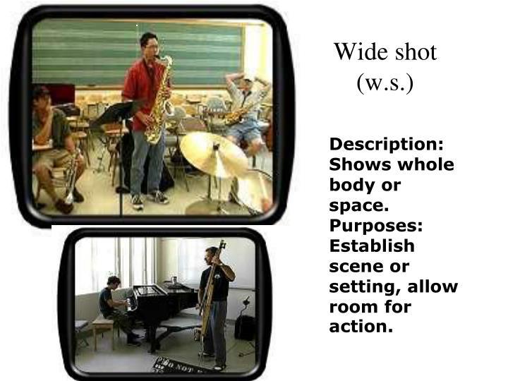 Wide shot (w.s.)