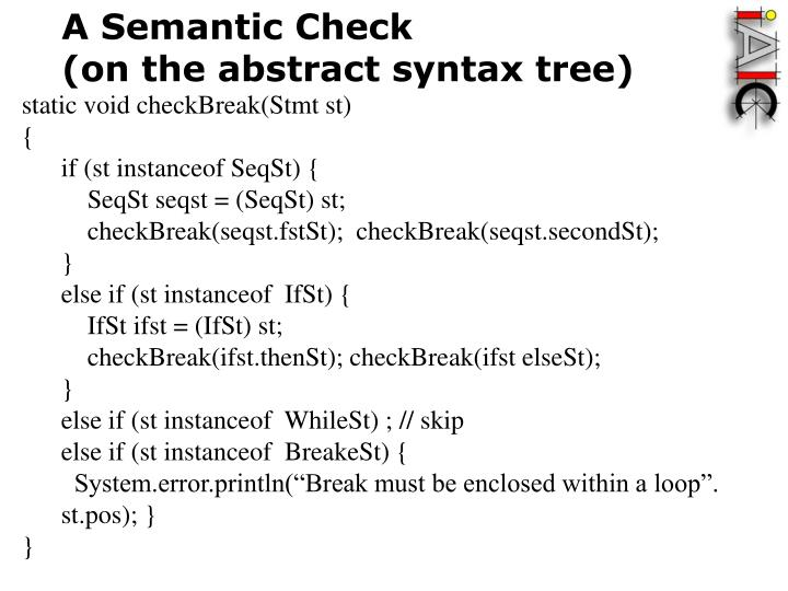 A Semantic Check