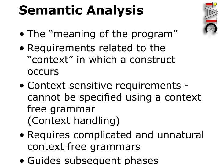 Semantic analysis1