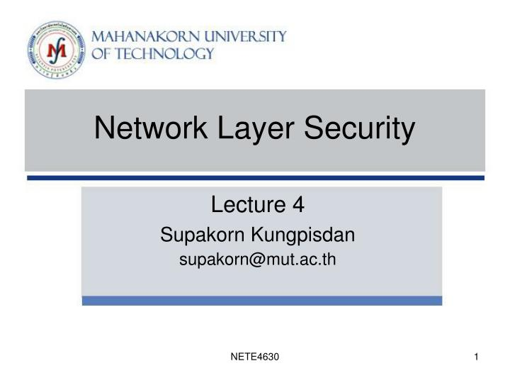 network layer security n.