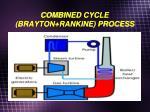 combined cycle brayton rankine process