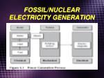 fossil nuclear electricity generation
