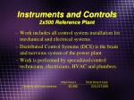 instruments and controls 2x500 reference plant