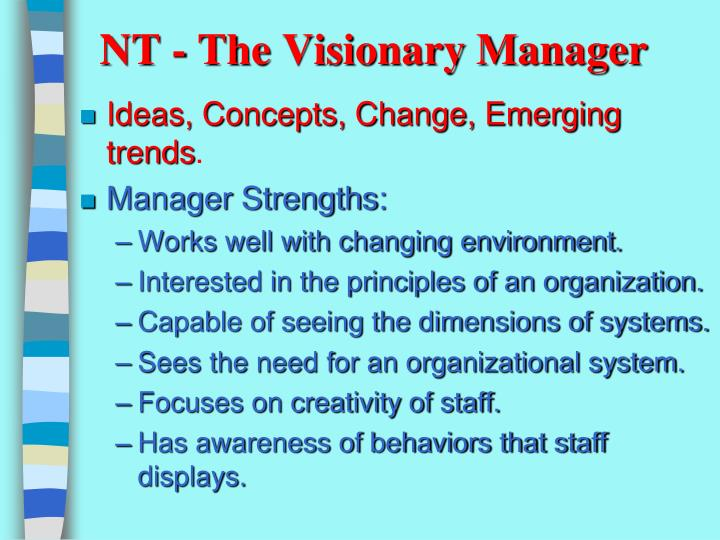 NT - The Visionary Manager