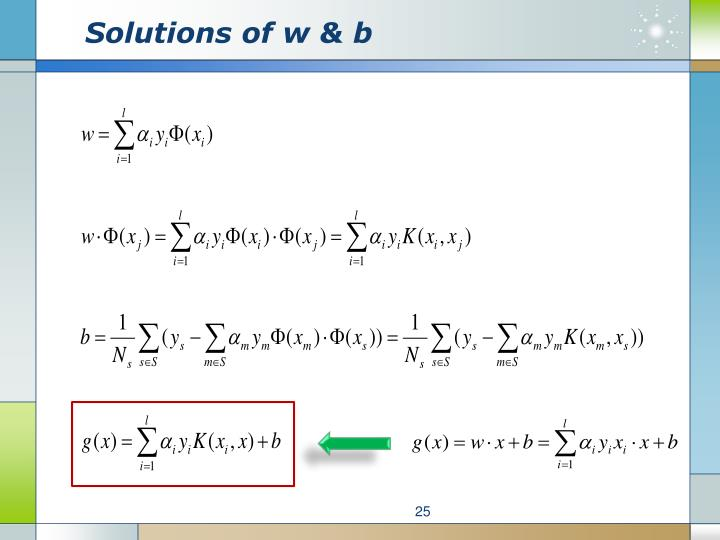 Solutions of w & b