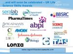 and will soon be celebrated uk life science skills awards