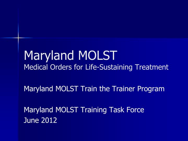 maryland molst medical orders for life sustaining treatment n.