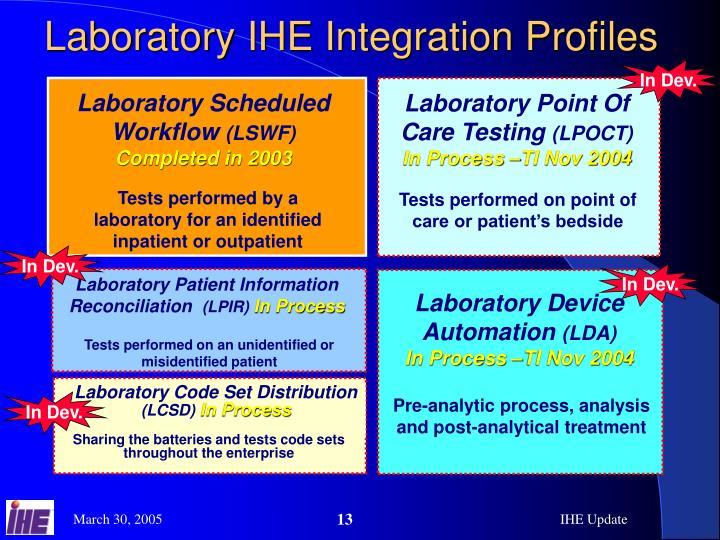 Laboratory IHE Integration Profiles