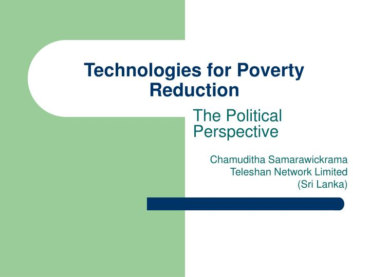 technologies for poverty reduction n.