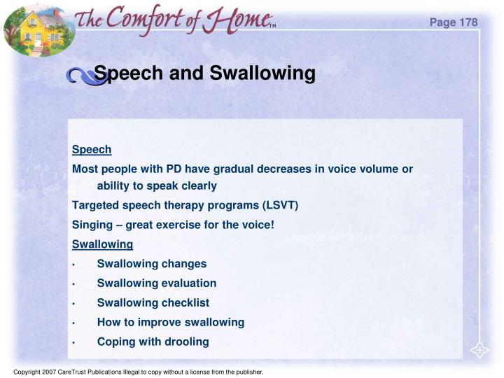 Speech and Swallowing