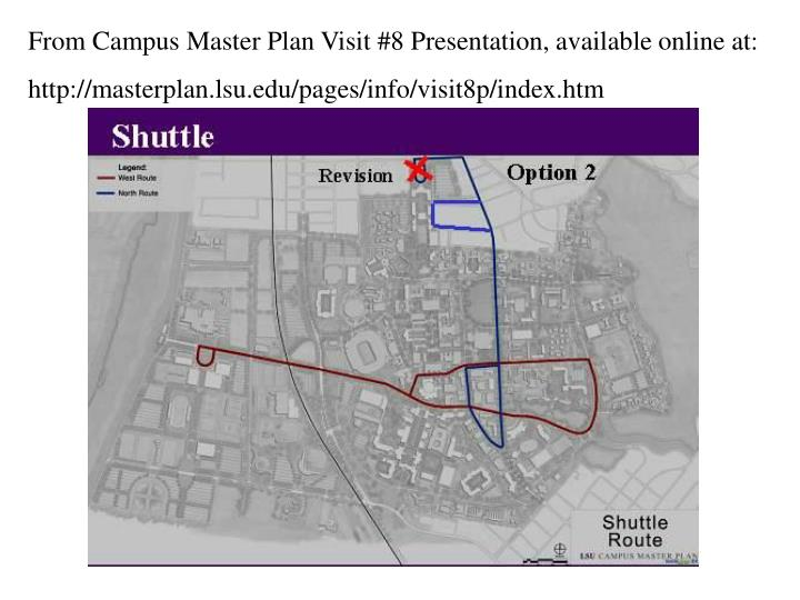 From Campus Master Plan Visit #8 Presentation, available online at: