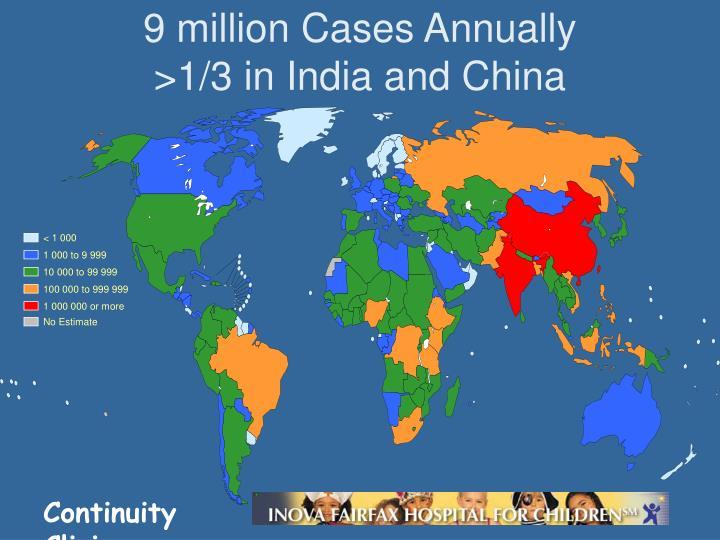 9 million Cases Annually