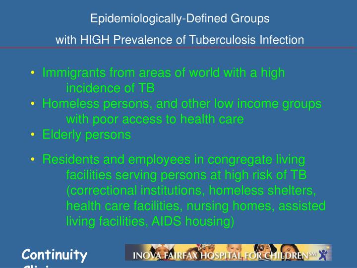 Epidemiologically-Defined Groups