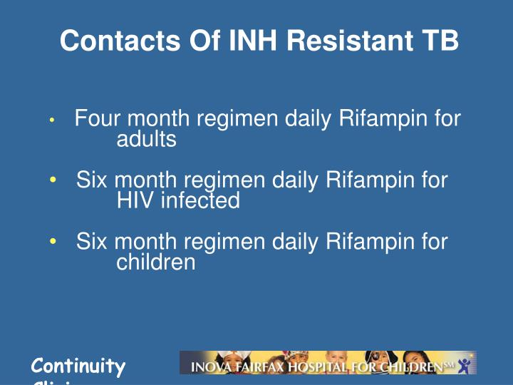Contacts Of INH Resistant TB