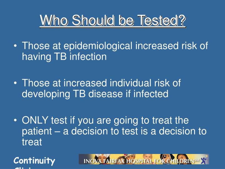 Who Should be Tested?