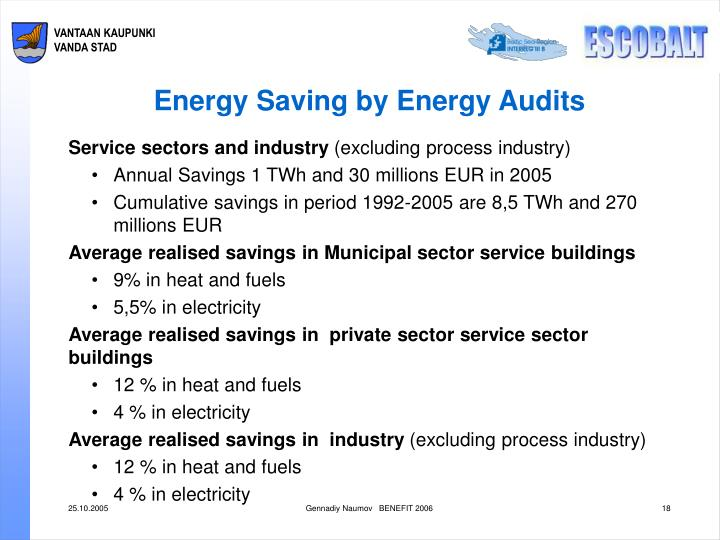 Energy Saving by Energy Audits