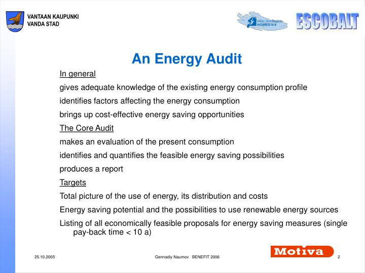 An Energy Audit