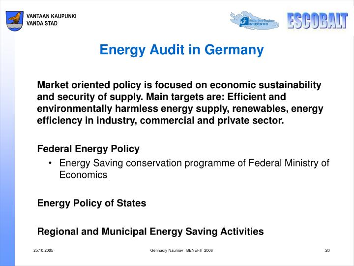 Energy Audit in Germany