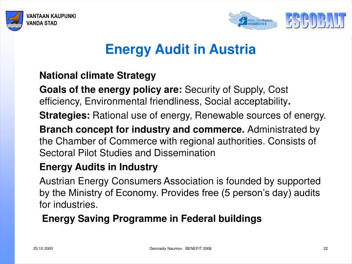 Energy Audit in Austria