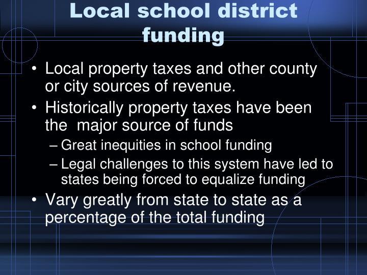 Local school district funding