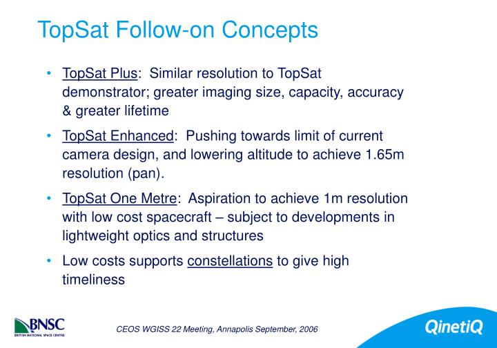 TopSat Follow-on Concepts