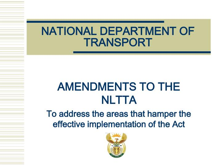 national department of transport