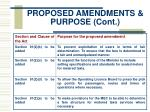 proposed amendments purpose cont10