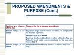 proposed amendments purpose cont12