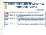 proposed amendments purpose cont13