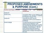 proposed amendments purpose cont5