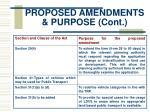 proposed amendments purpose cont6