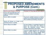 proposed amendments purpose cont7
