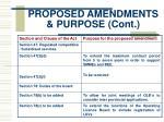 proposed amendments purpose cont8