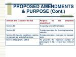 proposed amendments purpose cont9