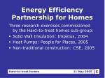 energy efficiency partnership for homes