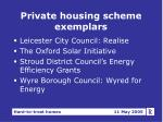 private housing scheme exemplars