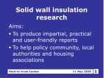 solid wall insulation research