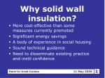 why solid wall insulation