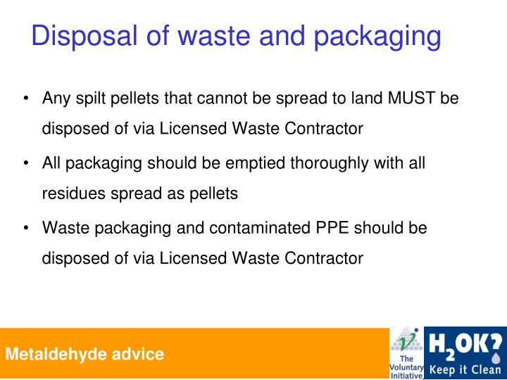 Any spilt pellets that cannot be spread to land MUST be disposed of via Licensed Waste Contractor