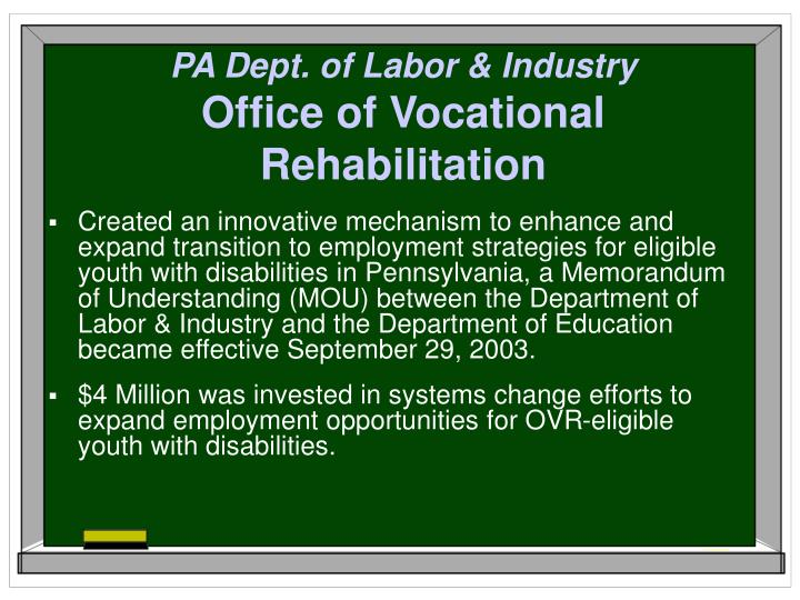 PA Dept. of Labor & Industry