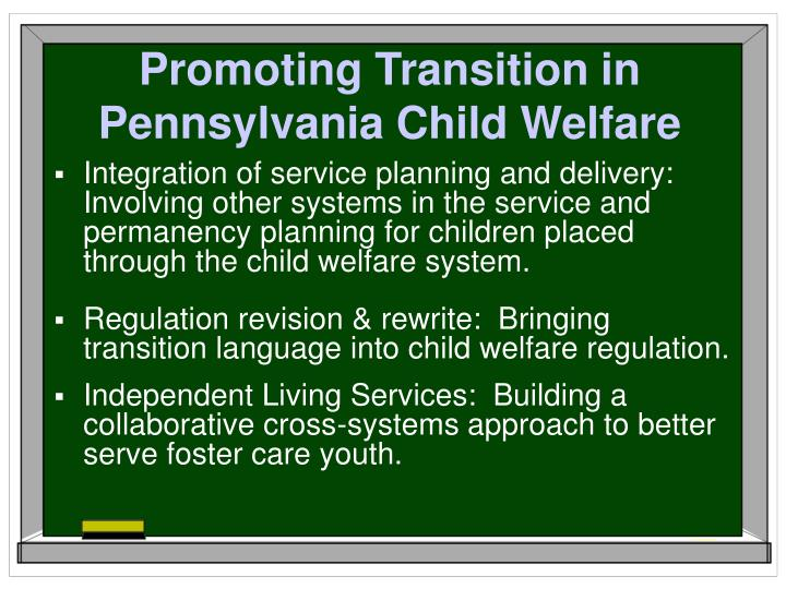 Promoting Transition in Pennsylvania Child Welfare