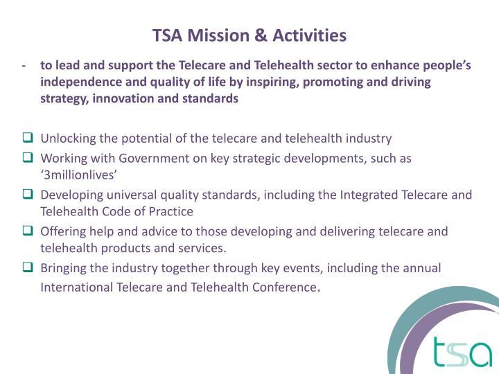 TSA Mission & Activities