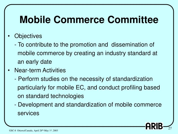 Mobile Commerce Committee