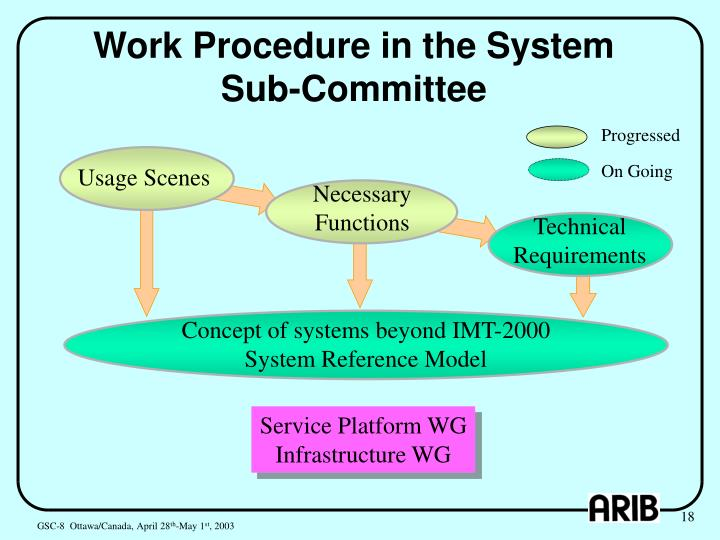 Work Procedure in the System Sub-Committee