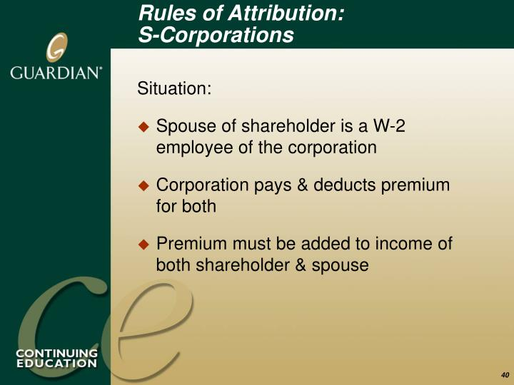 Rules of Attribution:
