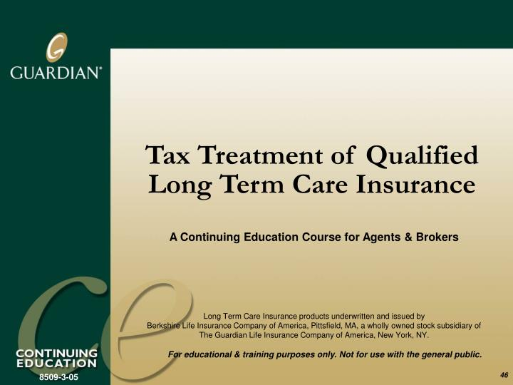 Tax Treatment of Qualified