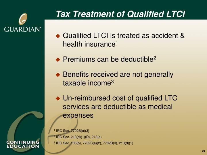 Tax Treatment of Qualified LTCI